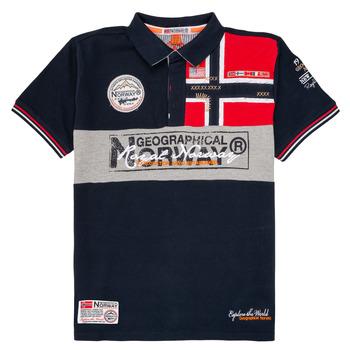 textil Pojkar Kortärmade pikétröjor Geographical Norway KIDNEY Marin