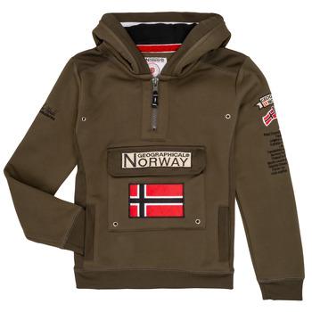 textil Pojkar Sweatshirts Geographical Norway GYMCLASS Kaki