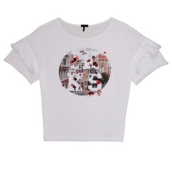 textil Flickor T-shirts Ikks DIBILIOU Vit