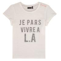 textil Flickor T-shirts Ikks DARRIAL Vit