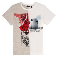 textil Pojkar T-shirts Ikks RULIO Beige / Vit