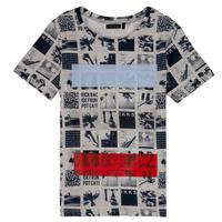 textil Pojkar T-shirts Ikks JULIEN Beige