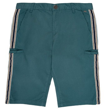 textil Pojkar Shorts / Bermudas Ikks MANUEL Blå / Grön