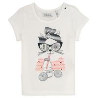textil Flickor T-shirts Ikks MEOLIA Vit