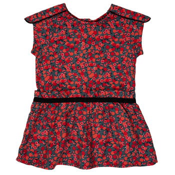 textil Flickor Korta klänningar Ikks MAGGIE Grå / Röd