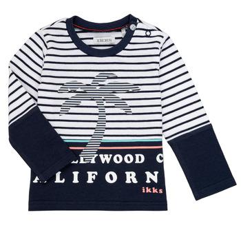 textil Pojkar Långärmade T-shirts Ikks LAURA Flerfärgad