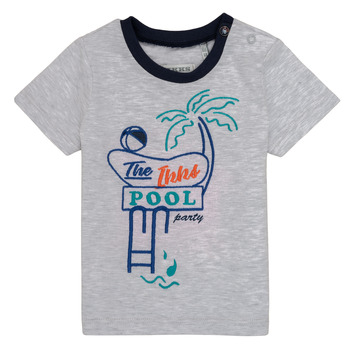 textil Pojkar T-shirts Ikks LISIANA Grå