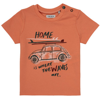 textil Pojkar T-shirts Ikks MANU Orange
