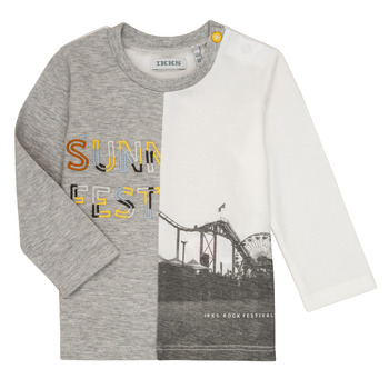 textil Pojkar Långärmade T-shirts Ikks MAELINO Grå