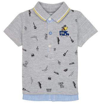 textil Pojkar Kortärmade pikétröjor Ikks MAELYS Grå