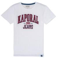 textil Pojkar T-shirts Kaporal ERNIE Vit
