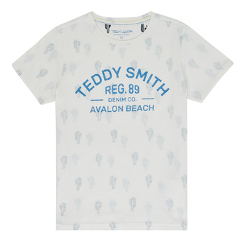 textil Pojkar T-shirts Teddy Smith ERNEST Beige