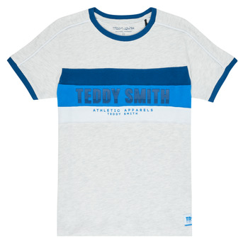 textil Pojkar T-shirts Teddy Smith BING Grå