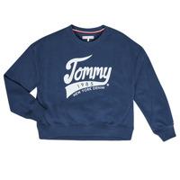 textil Flickor Sweatshirts Tommy Hilfiger KG0KG04955 Marin