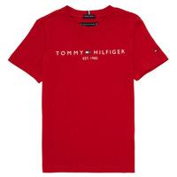 textil Pojkar T-shirts Tommy Hilfiger  Röd