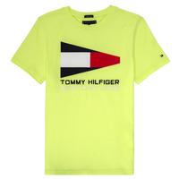 textil Pojkar T-shirts Tommy Hilfiger  Gul