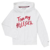 textil Flickor Sweatshirts Tommy Hilfiger KG0KG05043 Vit