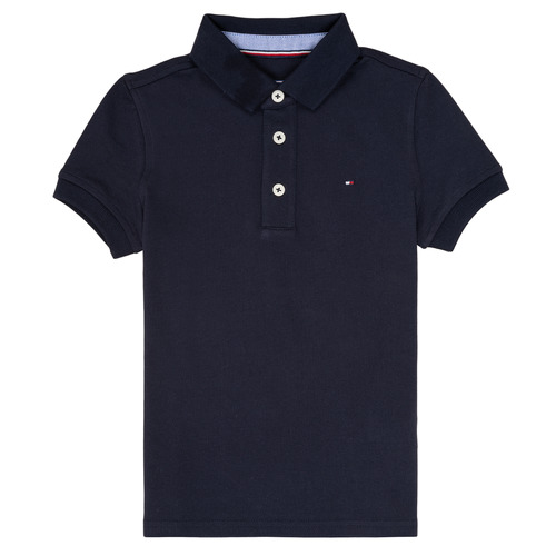 textil Pojkar Kortärmade pikétröjor Tommy Hilfiger KB0KB03975 Marin