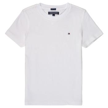 textil Pojkar T-shirts Tommy Hilfiger KB0KB04140 Vit