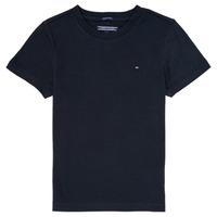 textil Pojkar T-shirts Tommy Hilfiger KB0KB04140 Marin