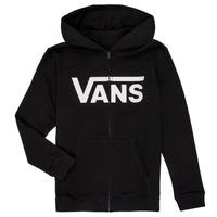 textil Pojkar Sweatshirts Vans BY VANS CLASSIC ZIP HOODIE Svart