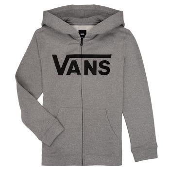 textil Pojkar Sweatshirts Vans BY VANS CLASSIC ZIP HOODIE Grå