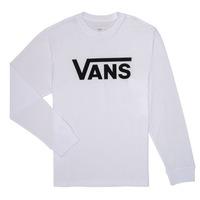 textil Pojkar Långärmade T-shirts Vans BY VANS CLASSIC LS Vit