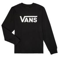 textil Pojkar Långärmade T-shirts Vans BY VANS CLASSIC LS Svart