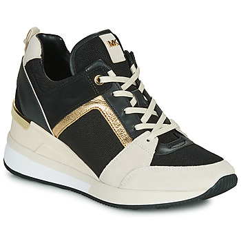 Skor Dam Sneakers MICHAEL Michael Kors GEORGIE Svart / Beige / Guldfärgad