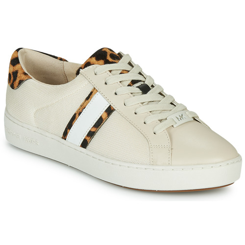 Skor Dam Sneakers MICHAEL Michael Kors IRVING STRIPE LACE UP Benvit / Leopard