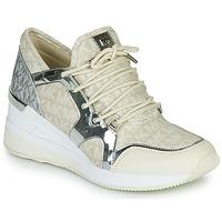 Skor Dam Sneakers MICHAEL Michael Kors LIV TRAINER Beige / Silverfärgad
