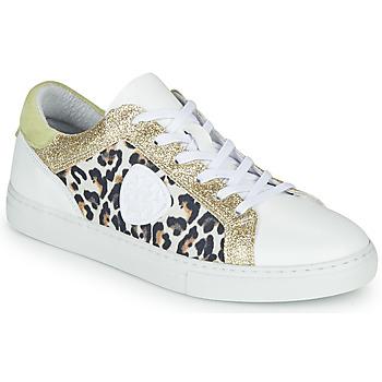 Skor Dam Sneakers Philippe Morvan FURRY Vit / Leopard / Glitter