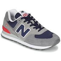 Skor Herr Sneakers New Balance 574 Grå / Blå / Röd