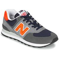 Skor Herr Sneakers New Balance 574 Grå / Orange