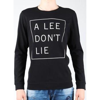 textil Herr Långärmade T-shirts Lee Don`t Lie Tee LS L65VEQ01 black, white