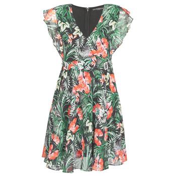 textil Dam Korta klänningar Guess EULALIA DRESS Svart / Grön