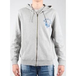 textil Herr Fleecetröja Wrangler Hoodie Zip Sweat W6497JE37 grey