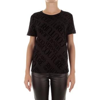 textil Dam T-shirts Versace B2HUB728 Nero