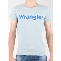 textil Herr T-shirts Wrangler S/S Graphic Tee W7A64DM3E grey