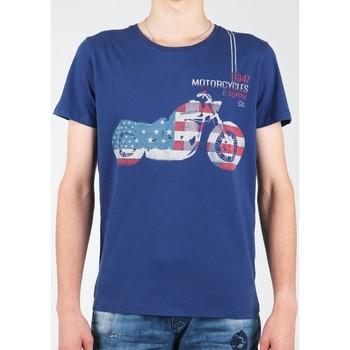 textil Herr T-shirts Wrangler S/S Biker Flag Tee W7A53FK 1F navy