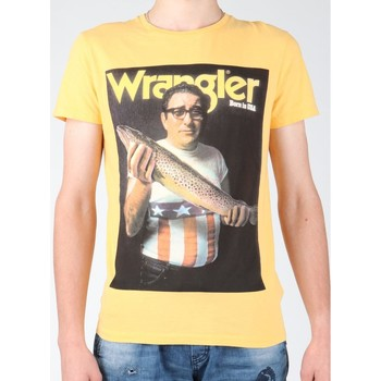 textil Herr T-shirts Wrangler T-shirt  S/S Graphic T W7931EFNG yellow