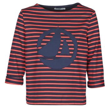 textil Dam Blusar Petit Bateau  Röd / Marin