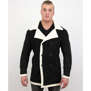 textil Herr Parkas Tony Backer Suede Shearling Jacket Lammy Coat Svart