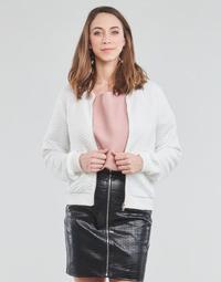 textil Dam Sweatshirts Moony Mood CHUCK Vit