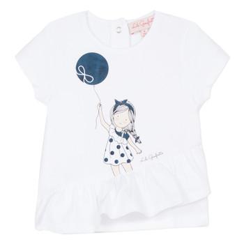 textil Flickor T-shirts Lili Gaufrette NALIOS Vit