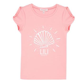 textil Flickor T-shirts Lili Gaufrette KATIA Blush