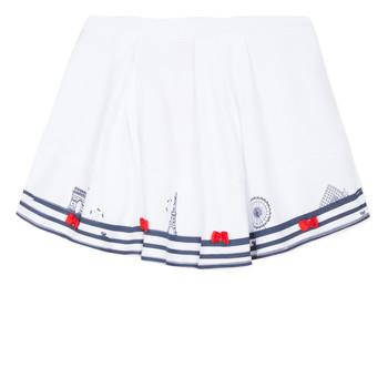 textil Flickor kjolar Lili Gaufrette BELINDA Vit