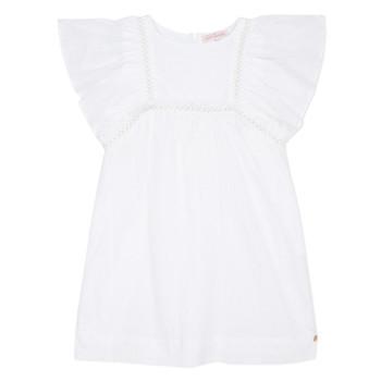 textil Flickor Korta klänningar Lili Gaufrette MELINA Vit