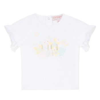 textil Flickor T-shirts Lili Gaufrette KERINI Vit