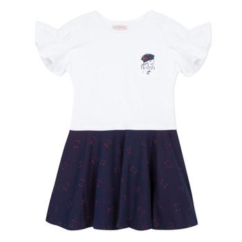 textil Flickor Korta klänningar Lili Gaufrette MENDI Vit